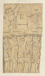 North gate, Sanchi. Upper panel on west face of east pillar.